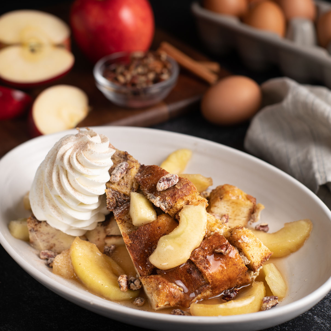 Breakfast and Brunch Menu from The Glass Knife in Winter Park, FL - Baked Apple French Toast